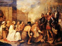Attila'nın Papa'ya Diz çöktüğü Tasvir